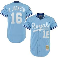 f2506ff459800 Men's Kansas City Royals Bo Jackson Mitchell & Ness Light Blue  Throwback Authentic Jersey Bo