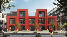 House by Urban Splash approaches housebuilding like product design Cladding Design, Modular Housing, Community Housing, Mansions Homes, House Layouts, Townhouse, Facade, Building A House, Outdoor Living