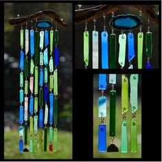 Recycled Beach Glass Inspired Wind Chimes  Sedona Green