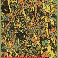 Tropical Jungle vintage wallpaper: 0042a | Retro Vintage Animal and Butterfly wallpaper