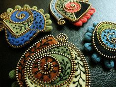 My favorite free form brooches!! | by woolly fabulous