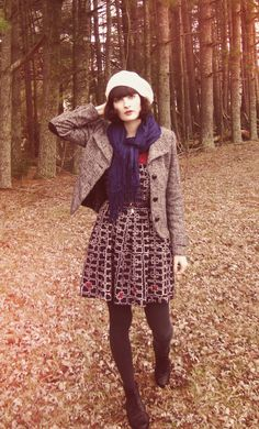 Beret hats for cuteness and the cold! And a scarf. And a jacket. Don't forget warm leggings and those everyday dresses.