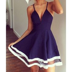 Wholesale Sexy Spaghetti Strap Sleeveless Low Cut Spliced Women's Dress Only $4.19 Drop Shipping | TrendsGal.com