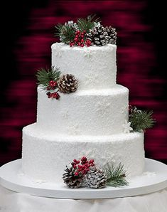 white wedding cakes Winter concept weddings are best suited for snow white wedding cake. In addition. - Winter concept weddings are best suited for snow white wedding cake. In addition to white cream col - Wedding Cake Rustic, White Wedding Cakes, Cake Wedding, Wedding Cupcakes, Wedding Vows, Wedding Table, Wedding Reception, Wedding Venues, Winter Torte