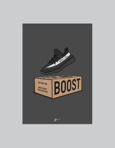 Image of ★ NEW ★ Yeezy 350 v2 Black White (Box)