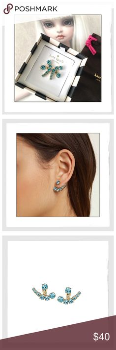 ✨Kate Spade Aquamarine Dainty Sparker Ear Jackets ✨Kate Spade Aquamarine Dainty Sparker Ear Jackets✨From The dainty sparklers collection✨Beautiful Sparkling Ear Jackets✨12K Gold-Plated With Aquamarine Glass Stones✨Stainless Steel Posts✨They come in a Kate Spade gift box with the signature Kate Spade dust bag✨NWT✨ kate spade Jewelry Earrings