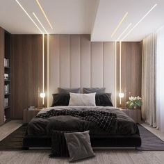 32 Fabulous Modern Minimalist Bedroom You Have To See - Everywhere you look you . 32 Fabulous Modern Minimalist Bedroom You Have To See – Everywhere you look you find things are b House Ceiling Design, Ceiling Design Living Room, Bedroom False Ceiling Design, Luxury Bedroom Design, Master Bedroom Design, Bedroom Designs, Luxury Master Bedroom, Modern Ceiling Design, Master Bedrooms