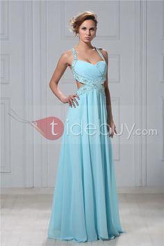 Sexy A-line Floor-length Spaghetti Straps Veronika's Evening Dress : Tidebuy.com