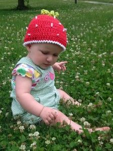 Strawberry Beanie - Free Crochet Pattern by Anastasia Popova, CrochetforBabies.com