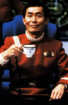 Mr. Sulu and the Teacup of Awesome.