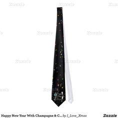 Happy New Years #NeckTie by #I_Love_Xmas #newyearscelebration #zazzle #Gravityx9 -
