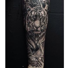 "266 Likes, 16 Comments - John Lewis (@tattoosbylewis) on Instagram: ""Tiger done earlier"""
