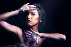 Photographer: Nick Goldsworthy Model: Julia Lin Makeup and Hair: Kirsten Maarschalk (Kirled Lash) Fashion, glitter. Models, Lashes, Make Up, Glitter, Hands, Fashion, Templates, Moda, Fashion Styles
