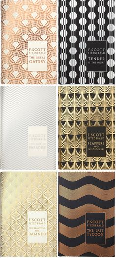 F. Scott Fitzgerald book cover redesigns by Coralie Bickford-Smith. Published by Penguin Hardback Classics, 2011.