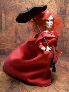 OOAK Dollhouse Miniature 5.5 inch Witch Myrtle Snow by LoreleiBlu