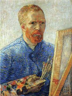 Self Portrait as an Artist, 1888, Vincent van Gogh. Van Gogh Museum, Amsterdam, Netherlands.