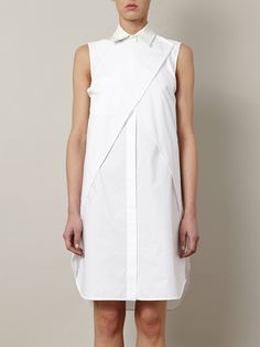 Alexander wang Wrap Shirt Dress in White | Lyst