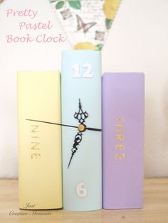 Pretty Pastel Book Clock