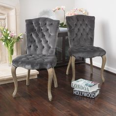 If you are looking for that classical look to help accent your dining room table, then the Moira velvet dining chairs are a perfect choice.