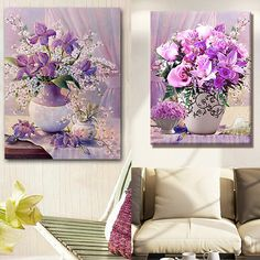 Diy Diamond Painting Cross Stitch Fflower Crystal Round Diamond Sets Decorative Full Diamond Embroidery Home Decor #Affiliate