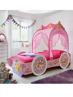 Princess Bunk Beds, Princess Toddler Bed, Girls Princess Bedroom, Cool Kids Bedrooms, Cute Bedroom Ideas, Bedroom Themes, Kid Bedrooms, Bed Rooms, Disney Princess Carriage Bed
