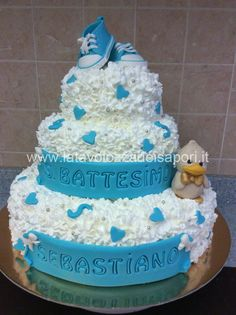 Torta a Piani per Battesimo     http://www.latavolozzadeisapori.it/?p=2299