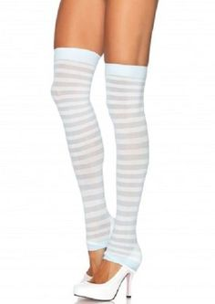 Yandy's sexy stockings & hosiery is the ultimate plus one for every occasion! Top off your look with sexy pantyhose, fishnets, or thigh high stockings. Wherever you're going, let your legs do the talking. Knee High Stockings, Nylon Stockings, Striped Boots, Costume Craze, Thigh High Socks, Ankle Socks, Thigh Highs, Leg Avenue, Lingerie