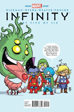 Marvel baby variants by Skottie Young
