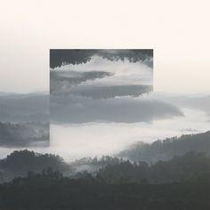 river scene, upside down