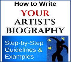 How To Write An Artist Resume Delectable The Artist Statement Art Writers Want Information  Art Biz  Bio .