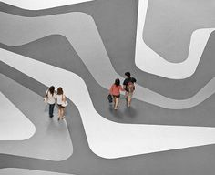 WOHA Designs' floor pattern on their Iluma project in Singapore
