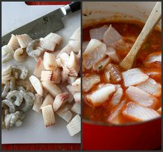 Fisherman's Soup Recipe with Tilapia, Shrimp, Tomatoes and Capers...Richly flavored and healthy soup!  320 calories and 7 Weight Watchers Smart Points