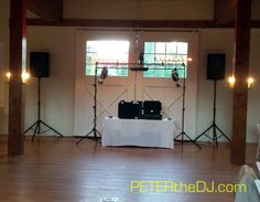 Setup for Megan and Steve's wedding reception at the Farmers Museum in Cooperstown, September 2014.