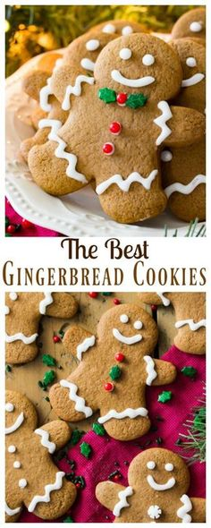 The BEST Gingerbread Cookies! Soft and chewy, made with all butter! The BEST Gingerbread Cookies! Soft and chewy, made with all butter! Christmas Sweets, Christmas Cooking, Holiday Baking, Christmas Desserts, Christmas Recipes, Diy Christmas, Best Gingerbread Cookies, Holiday Cookies, Decorating Gingerbread Men