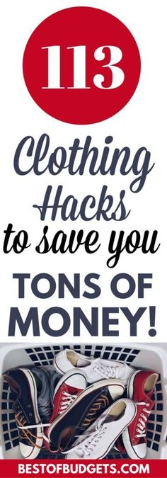 113 Clothing Hacks to Save You a Ton of Money - Finance tips, saving money, budgeting planner Budgeting Finances, Budgeting Tips, Ways To Save Money, Money Tips, Money Hacks, Savings Planner, Money Saving Mom, Clothing Hacks, Money Clothing