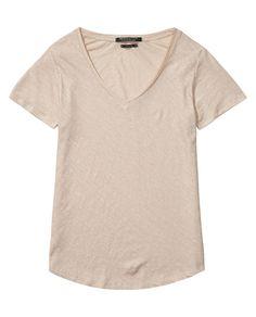 Basic Linen Blend T-Shirt - Scotch