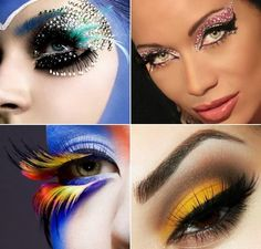 Crazy makeup; I like the pink on the right.