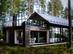 Cabin Homes, Cottage Homes, Architecture Details, Modern Architecture, Cabins And Cottages, House Goals, House In The Woods, My New Room, Home Interior