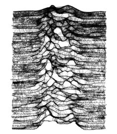 mesh - reminds me of Joy Division's album cover! Pinning purely for that reason