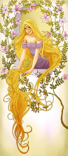 Rapunzel (Drawing by LadyAdler @deviantART) #Tangled