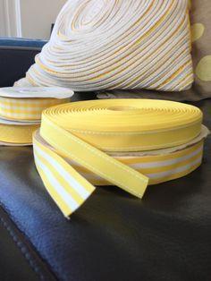 Yellow ribbons Grosgrain Ribbon, Ribbons, Sunshine, Tie, Yellow, Bias Tape, Grinding, Ties, Gold