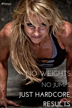 No weights. No Jumps. Just hardcore results. #piyo http://www.chalenejohnson.com/piyo