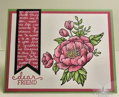 Christine's Stamping Spot: Dear Friend - Watercoloring brand new Stampin' Up! image