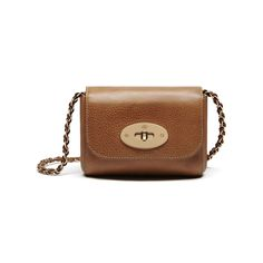 00e3cd35a07 Shop the Mini Lily in Oak Natural Leather at Mulberry.com. Miniature-sized