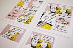 Then there's always the comic book theme for the save-the-date cards!