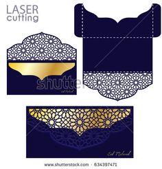 Laser cut Eid Money Holder, Eid Mubarak card, Money Envelope template, Gift for Eid, Islamic pattern.