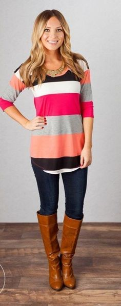 Colorful tunic top. Cute outfit. Stitch fix ideas (Top Outfit Stitch Fix)