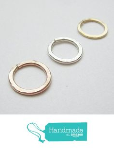 These hand hammered made-to-order hoops are beautifully fitted for Septum Nose Lip Eyebrow and Cartilage piercings I will forge them in the metal of your choice - Sterling Silver k Gold Body Jewellery, Rose Gold Jewelry, Copper Jewelry, Body Jewelry, Rose Gold Septum Ring, Sterling Silver Nose Rings, Fake Nose Rings, Gold Nose Rings, Cartilage Ring
