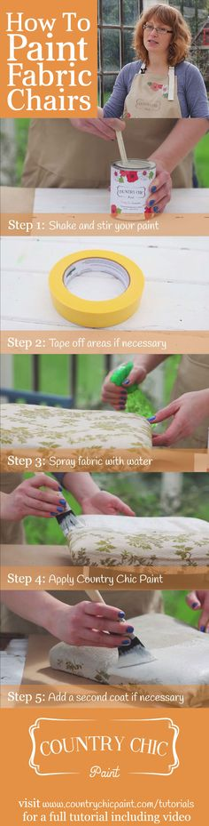 How to paint fabric with chalk-based paint | fabric painting instructions #countrychicpaint - www.countrychicpaint.com/tutorials