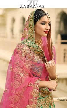 Shop green designer wedding lehenga, indian bridal lehengas at ZaraaFab to look beautiful at your special occasion. Shop latest bridal lehenga cholis and designer bridal wear at most affordable price in uk.  #greenlehenga #designerlehengas #weddinglehenga #indianlehenga #bridallehenga #lehengacholi #bridalwear #heavylehenga #lehengacollection #weddingdress #indianclothing #asianwear